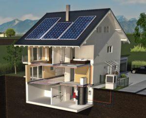Solarhaus der Firma Kermi