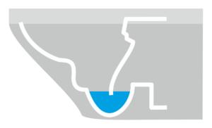 Grafik mit Tiefspültechnik